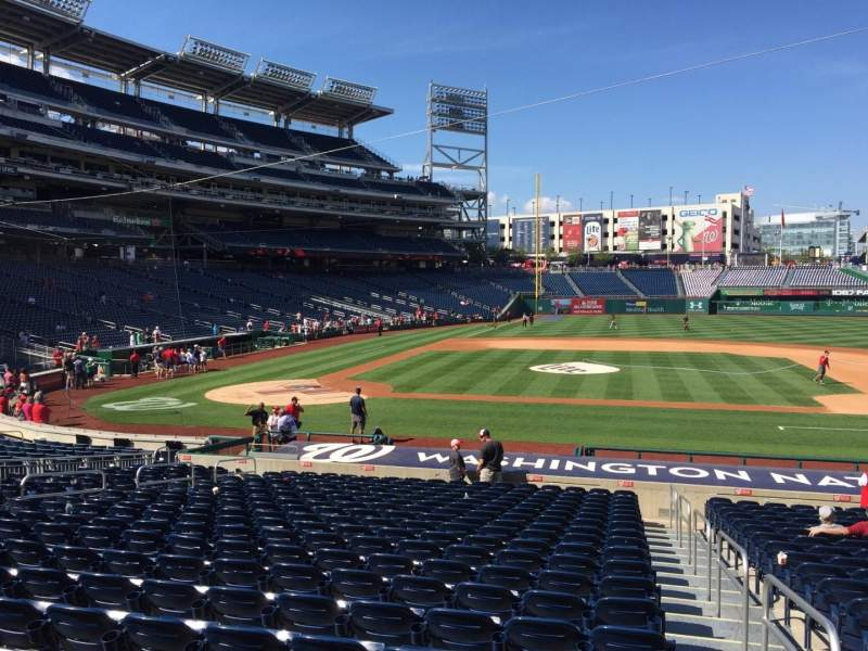 Seating view for Nationals Park Section 128 Row Z Seat 1