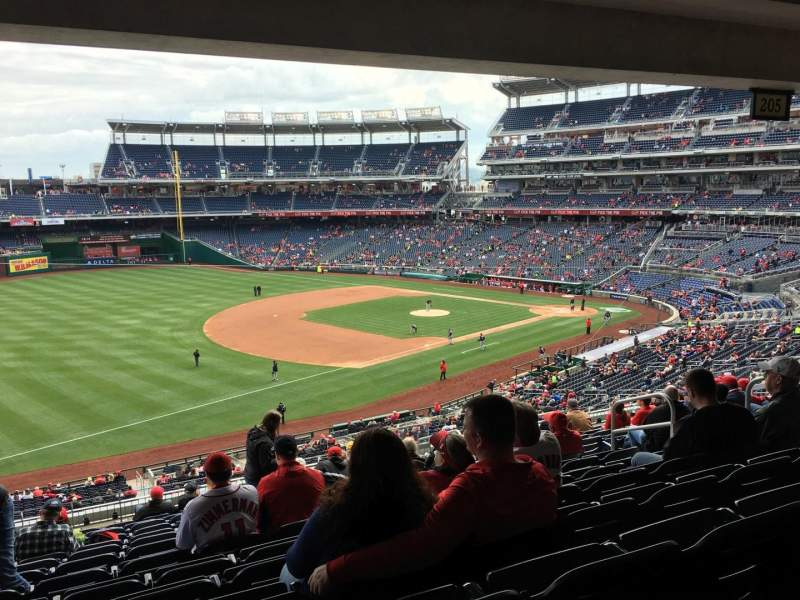 Seating view for Nationals Park Section 204 Row P Seat 10