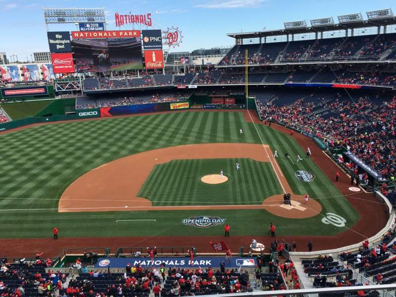 Seating view for Nationals Park Section 309 Row B Seat 8