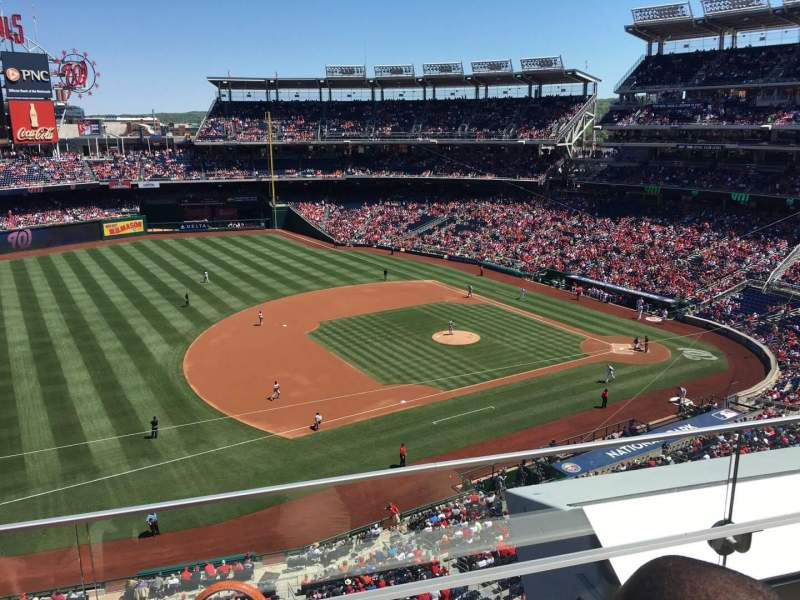 Seating view for Nationals Park Section 306 Row B Seat 19