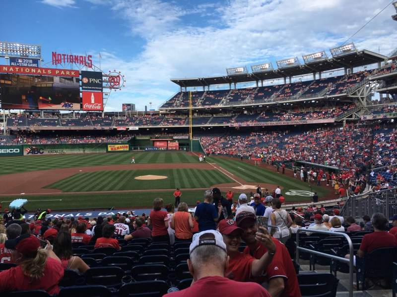 Seating view for Nationals Park Section 117 Row JJ Seat 4