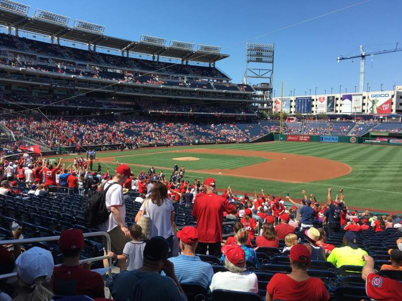Seating view for Nationals Park Section 132 Row KK Seat 18