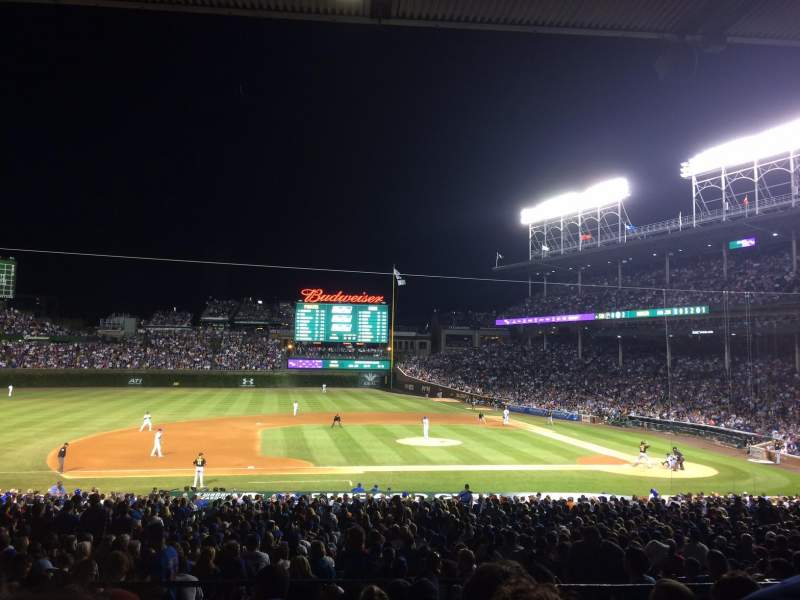Seating view for Wrigley Field Section 213 Row 8 Seat 7