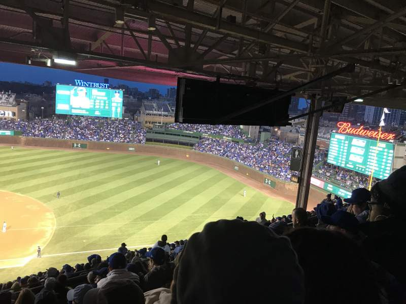 Seating view for Wrigley Field Section 425R Row 9 Seat 22
