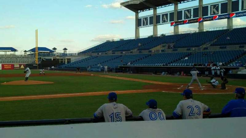 Seating view for George M. Steinbrenner Field Section 116 Row EE