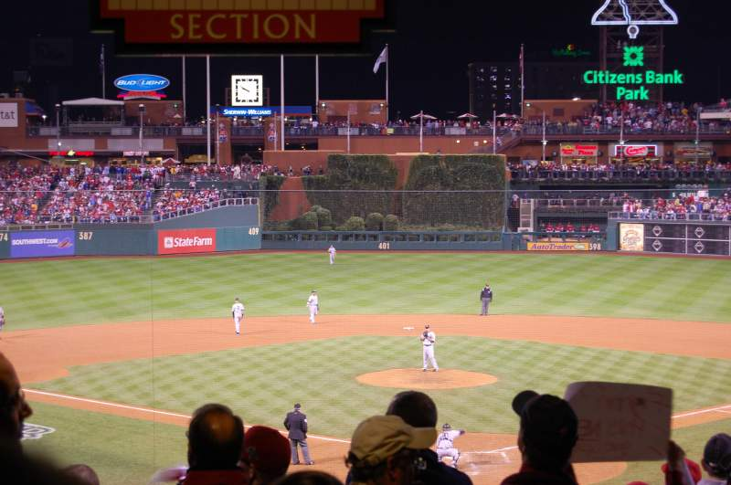 Seating view for Citizens Bank Park Section 124 Row Standing R