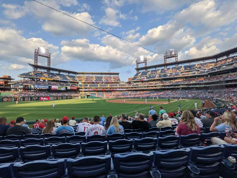 Seating view for Citizens Bank Park Section 138 Row 18 Seat 5