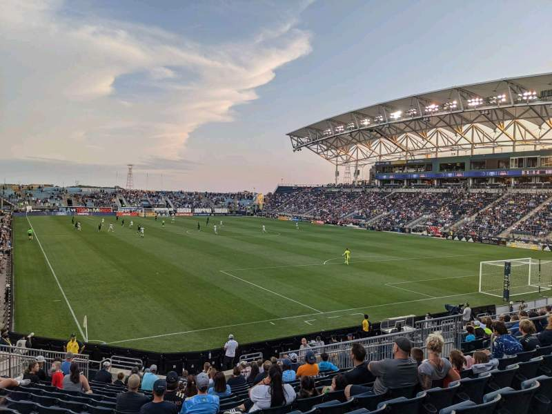Seating view for Subaru Park Section 120 Row S Seat 17