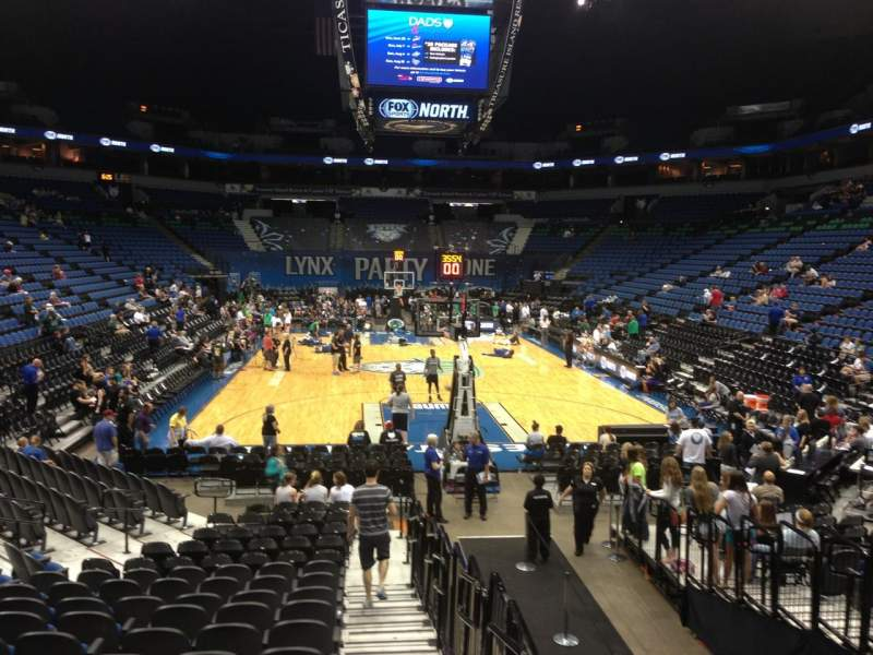 Seating view for Target Center Section 101 Row L Seat 7