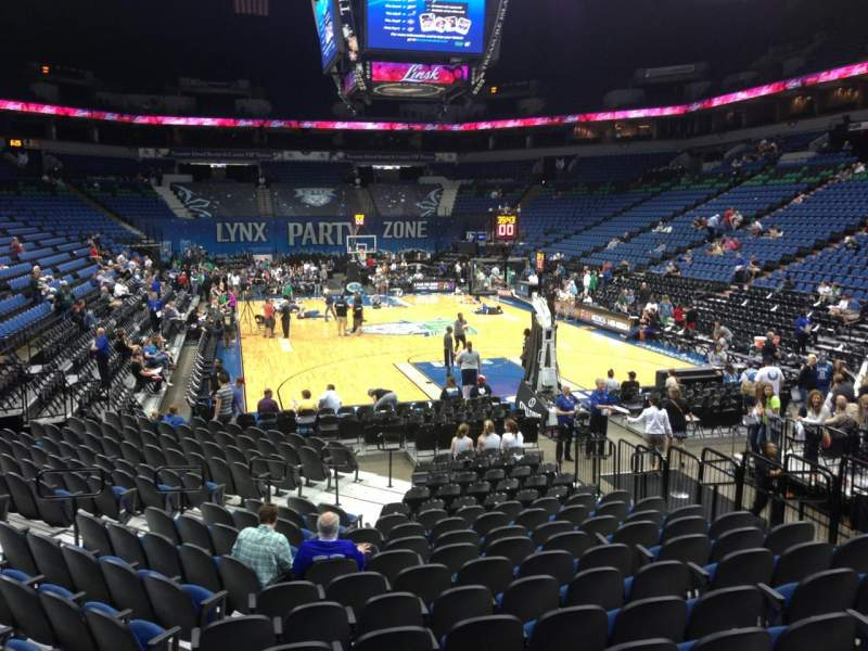 Seating view for Target Center Section 104 Row L Seat 10