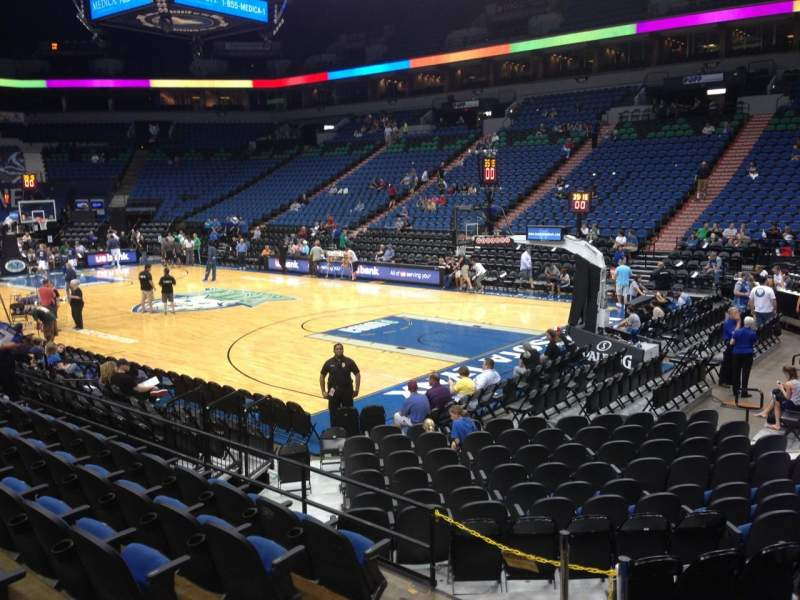 Seating view for Target Center Section 106 Row G Seat 11