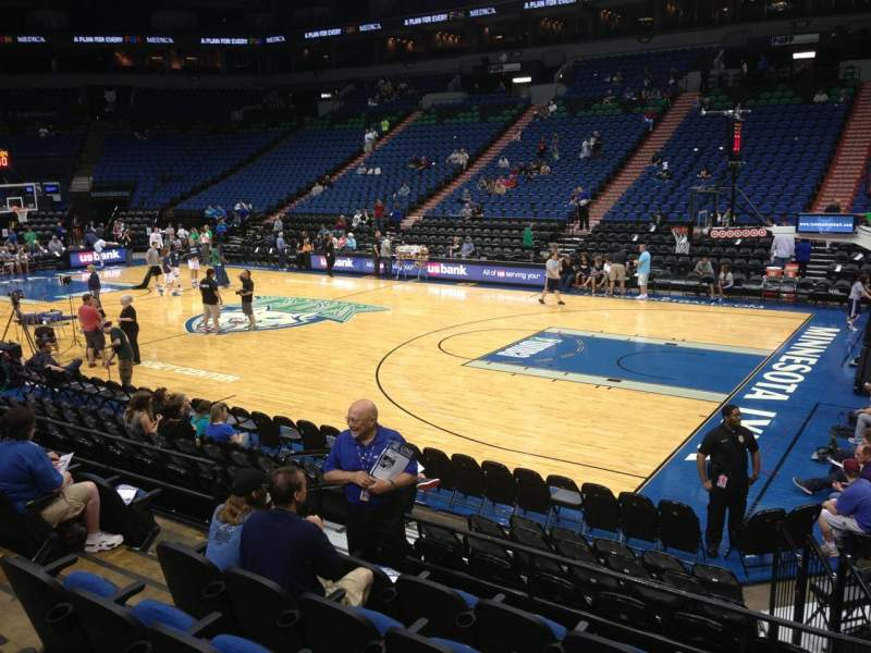 Seating view for Target Center Section 109 Row L Seat 7