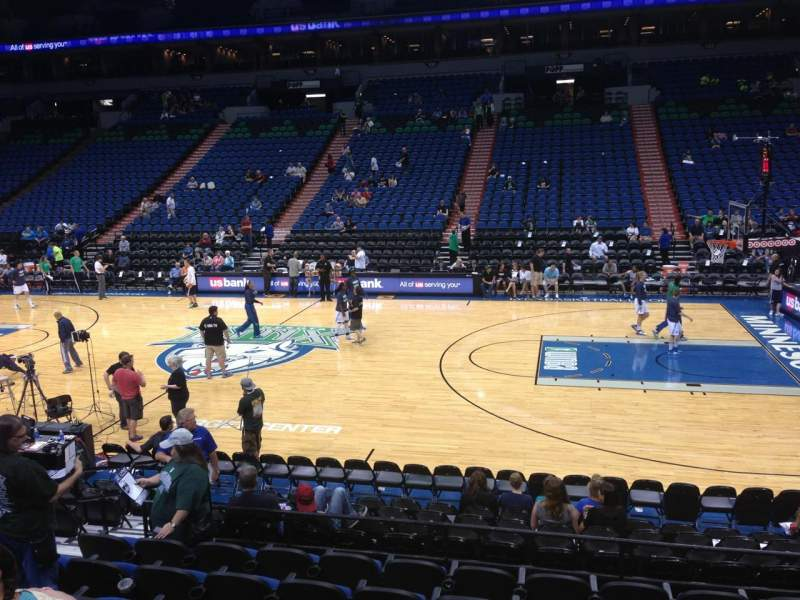 Seating view for Target Center Section 110 Row G Seat 7
