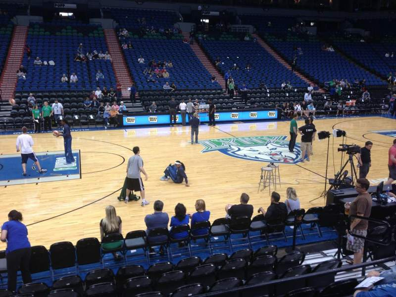 Seating view for Target Center Section 112 Row G Seat 8