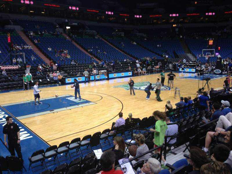 Seating view for Target Center Section 113 Row G Seat 8