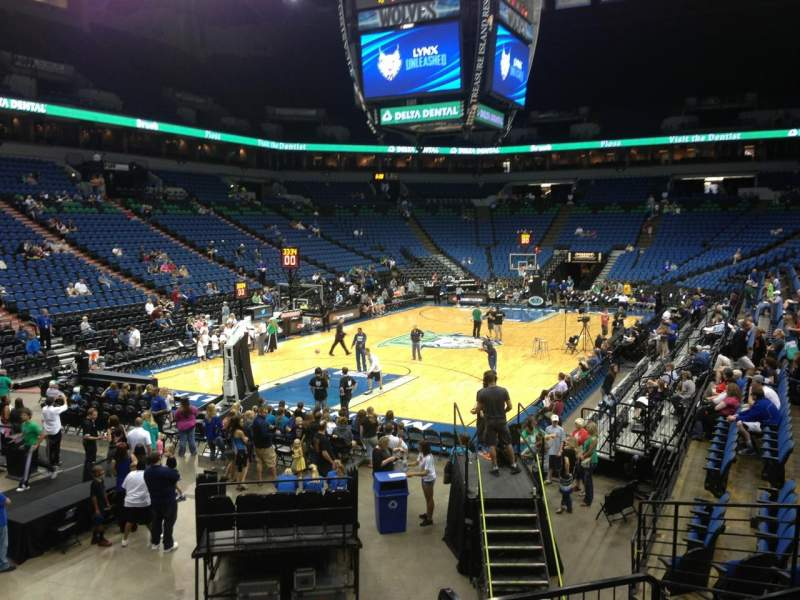 Seating view for Target Center Section 118 Row L Seat 8