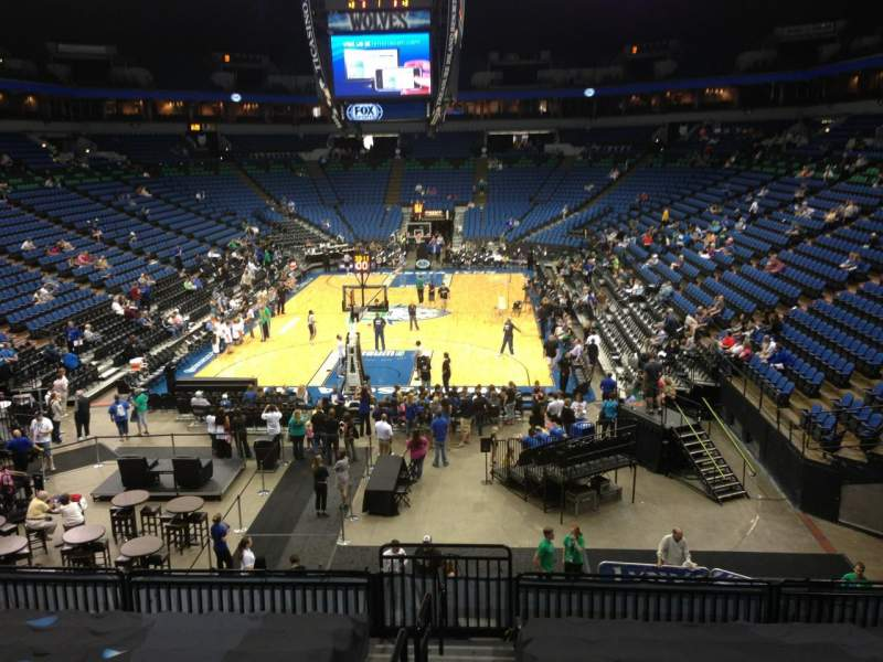 Seating view for Target Center Section 121 Row L Seat 8