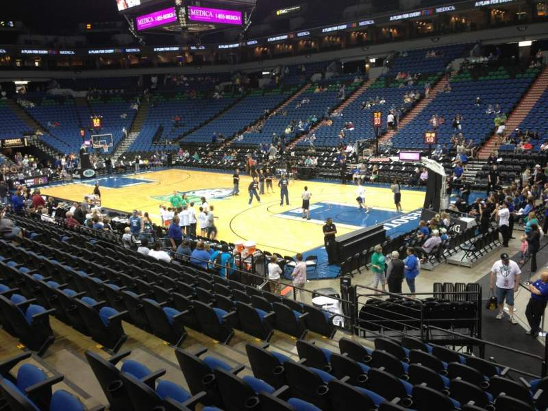 Seating view for Target Center Section 126 Row L Seat 9