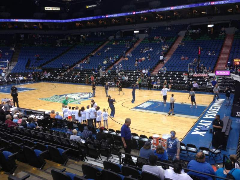 Seating view for Target Center Section 129 Row G Seat 9