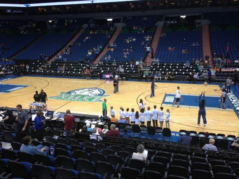 Seating view for Target Center Section 130 Row G Seat 8