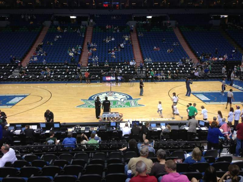 Seating view for Target Center Section 131 Row G Seat 8