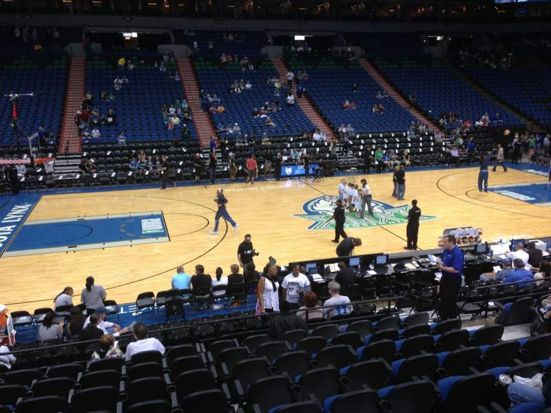 Seating view for Target Center Section 132 Row G Seat 7
