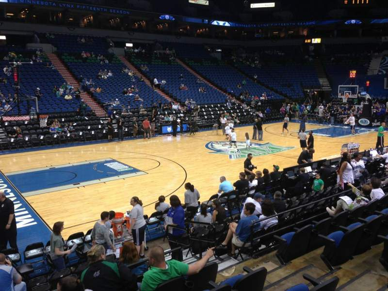 Seating view for Target Center Section 133 Row G Seat 8