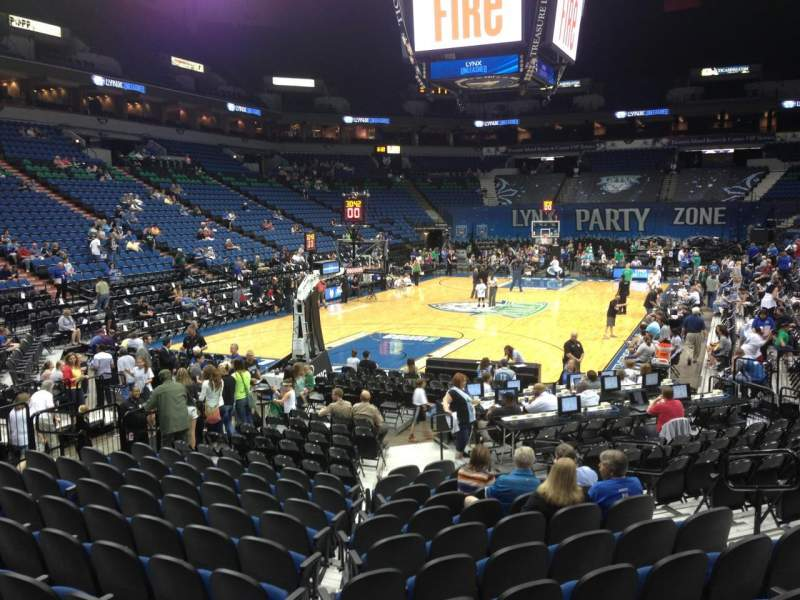 Seating view for Target Center Section 138 Row L Seat 8