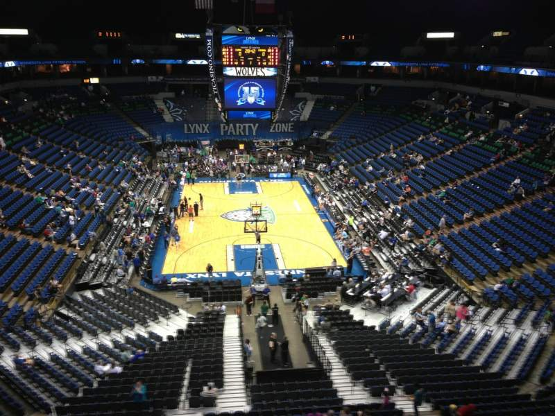 Seating view for Target Center Section 201 Row C Seat 7