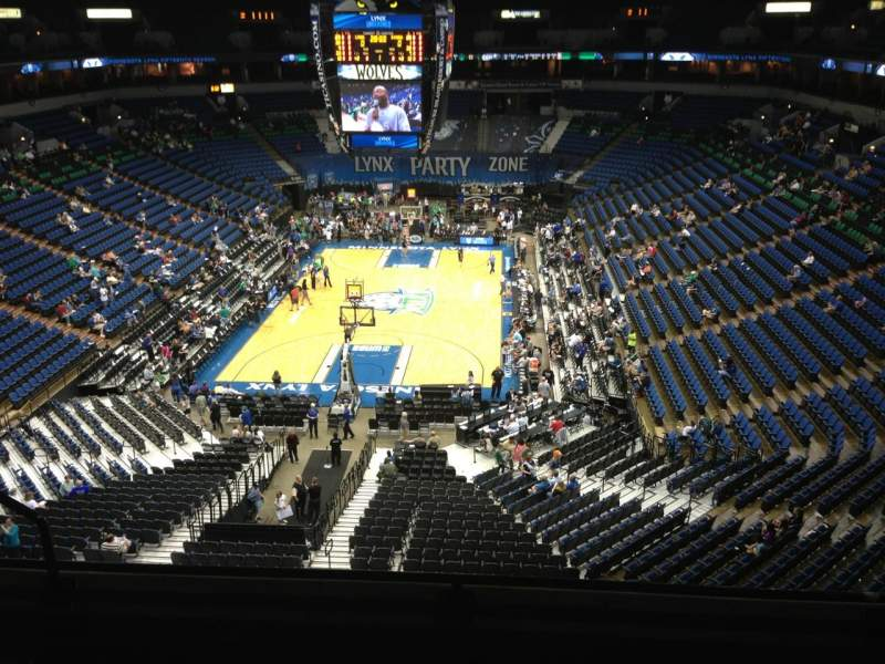Seating view for Target Center Section 240 Row C Seat 8