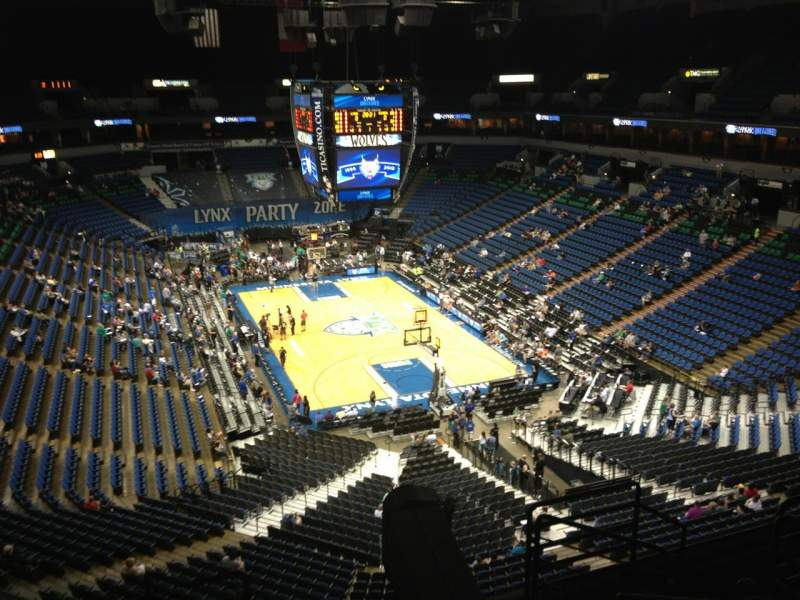 Seating view for Target Center Section 202 Row A Seat 8