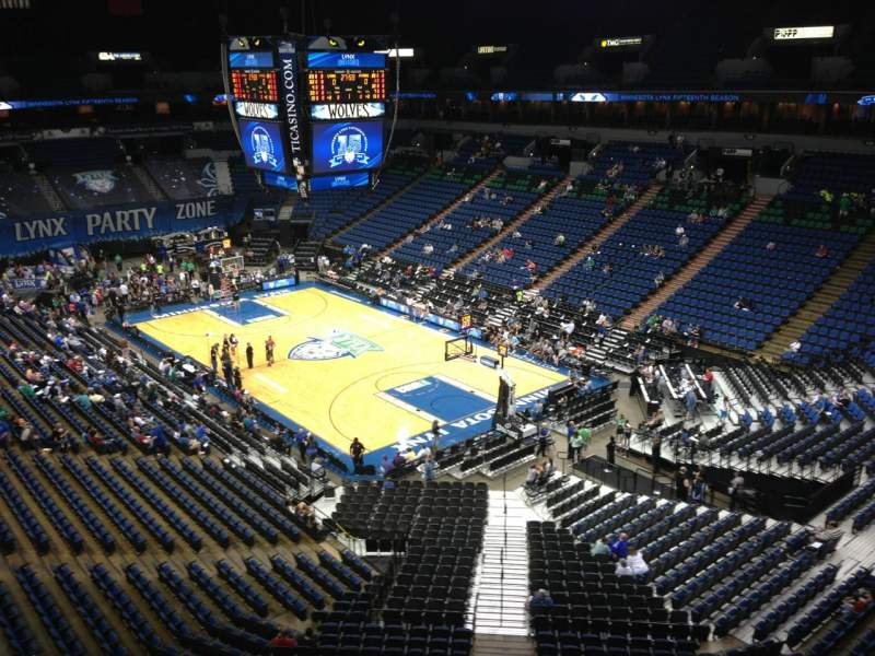 Seating view for Target Center Section 204 Row A Seat 8