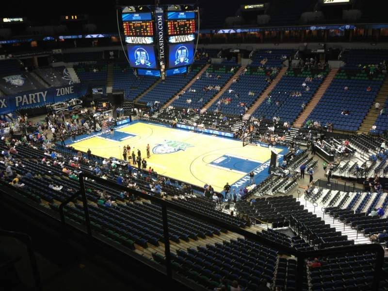 Seating view for Target Center Section 205 Row A Seat 8