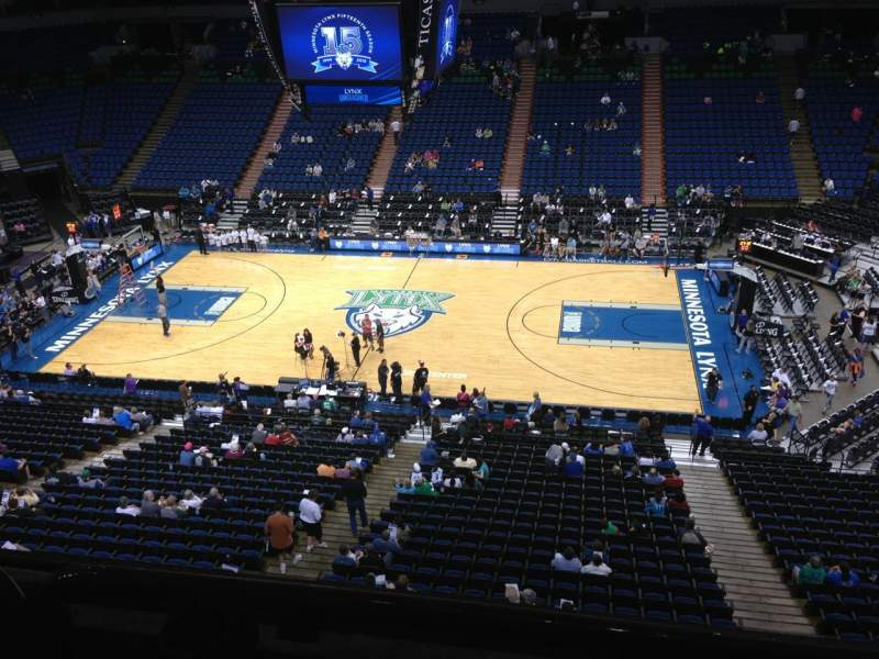 Seating view for Target Center Section 209 Row A Seat 9