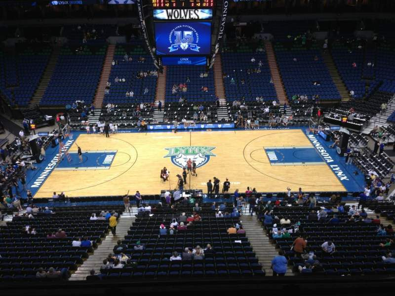 Seating view for Target Center Section 210 Row A Seat 8