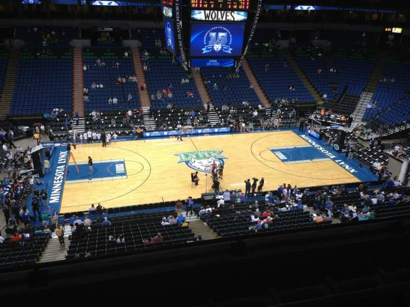 Seating view for Target Center Section 212 Row A Seat 8