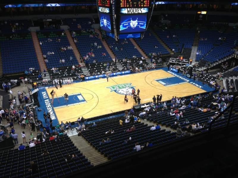 Seating view for Target Center Section 213 Row A Seat 8