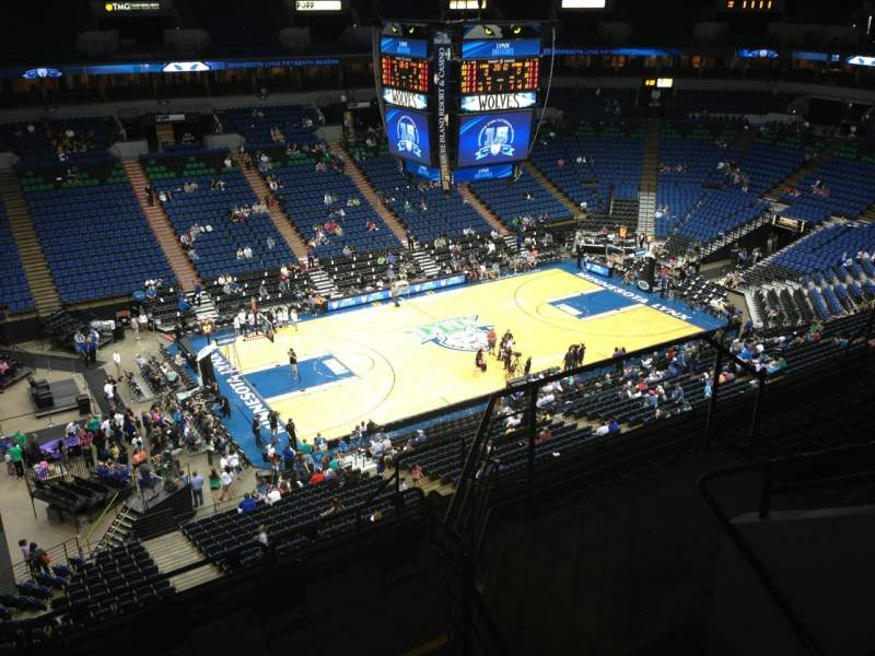 Seating view for Target Center Section 214 Row A Seat 8