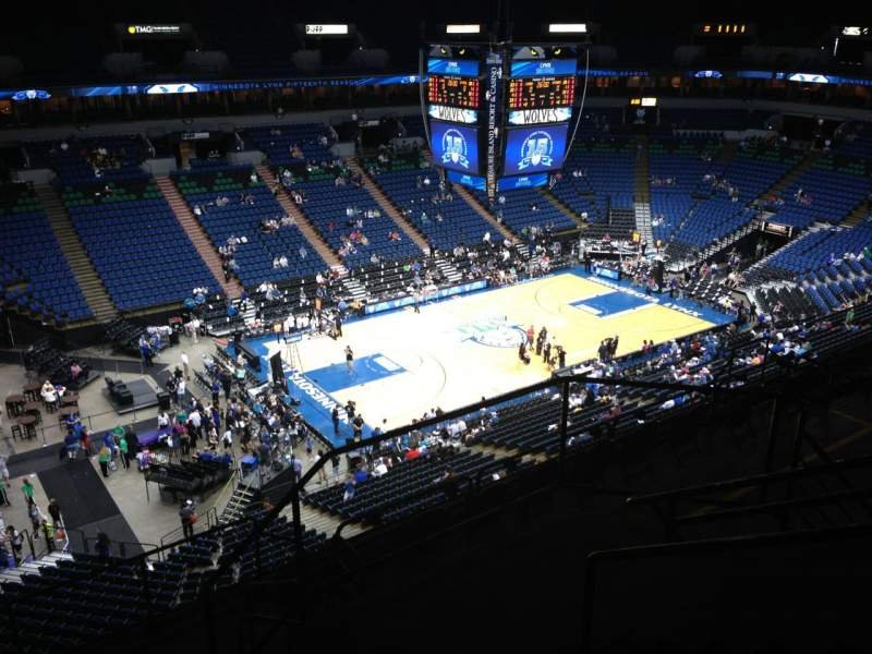 Seating view for Target Center Section 215 Row A Seat 9