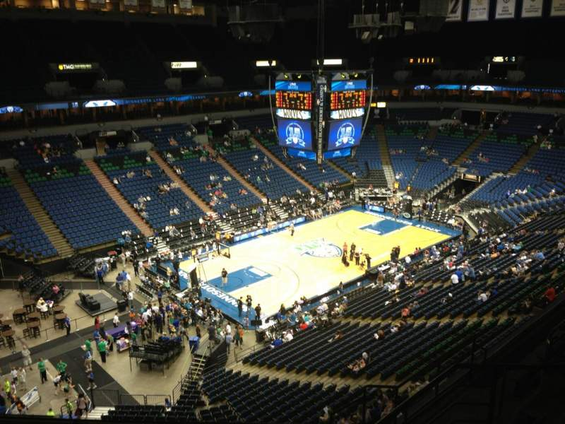 Seating view for Target Center Section 216 Row A Seat 8