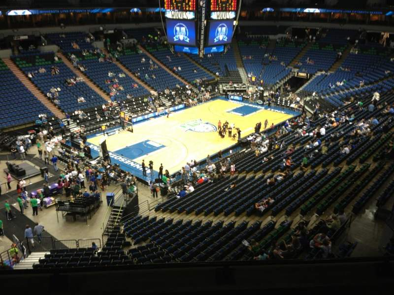 Seating view for Target Center Section 217 Row A Seat 8