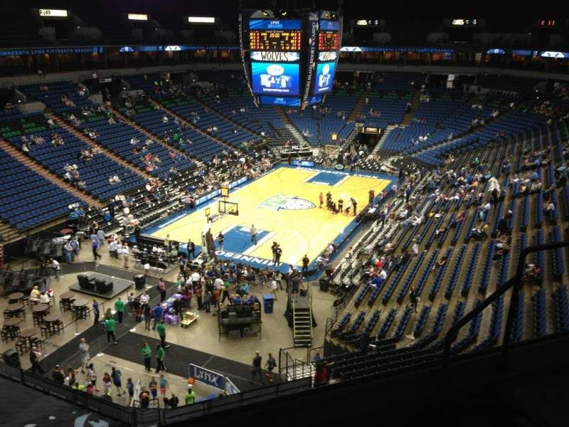 Seating view for Target Center Section 219 Row A Seat 8