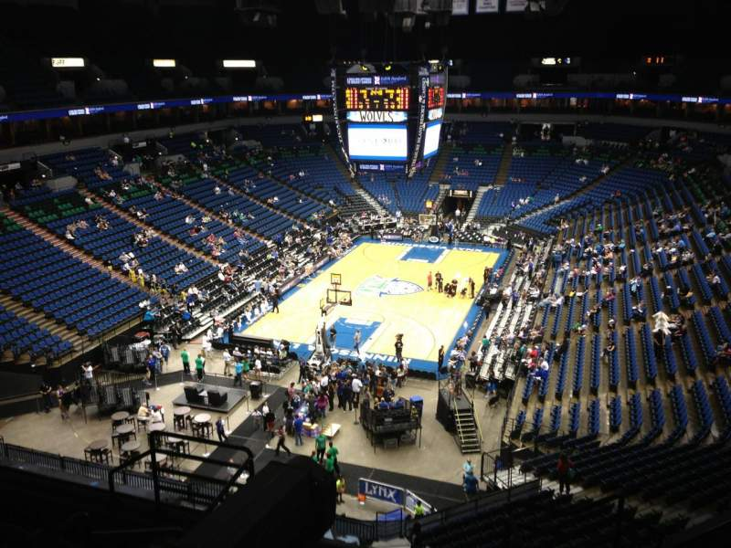 Seating view for Target Center Section 220 Row A Seat 8