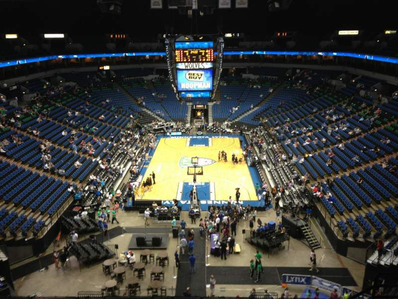 Seating view for Target Center Section 221 Row A Seat 9