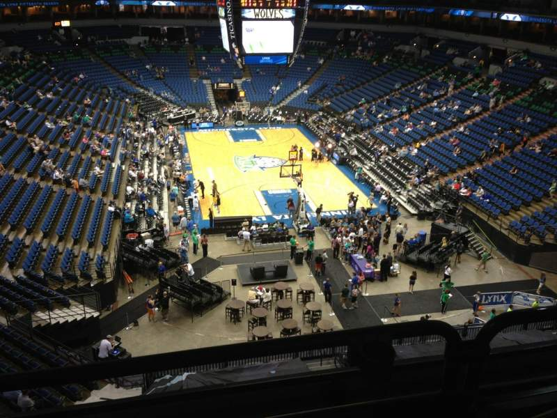 Seating view for Target Center Section 222 Row A Seat 8