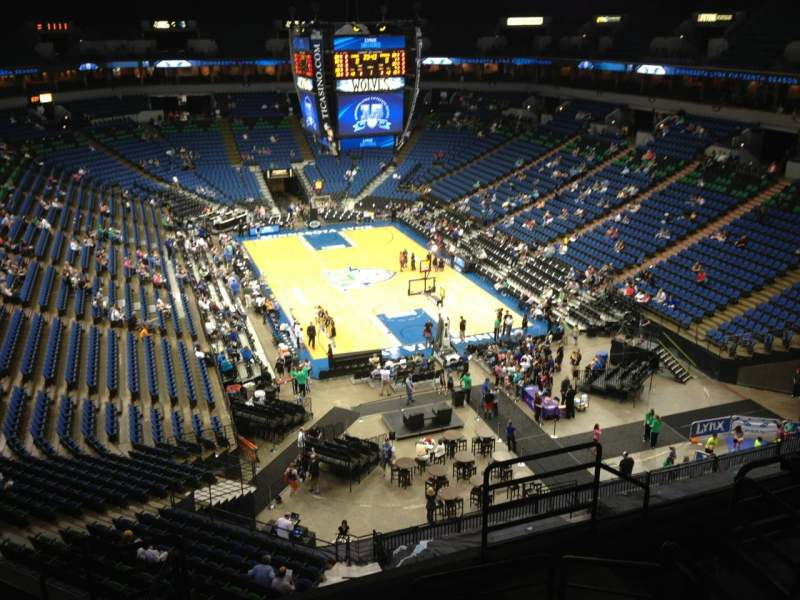 Seating view for Target Center Section 224 Row A Seat 8