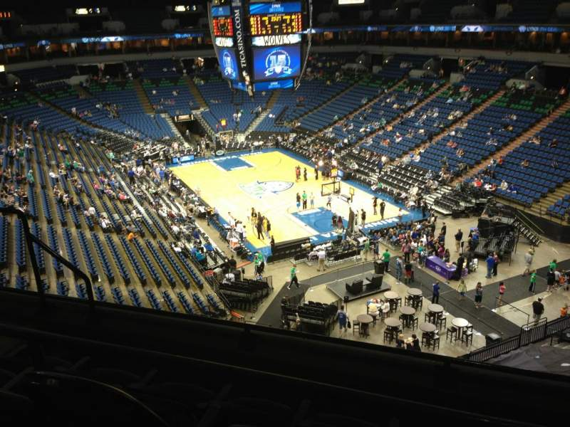 Seating view for Target Center Section 225 Row A Seat 8
