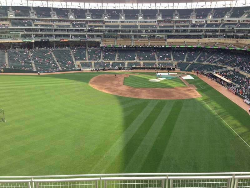 Seating view for Target Field Section 330 Row 5 Seat 10