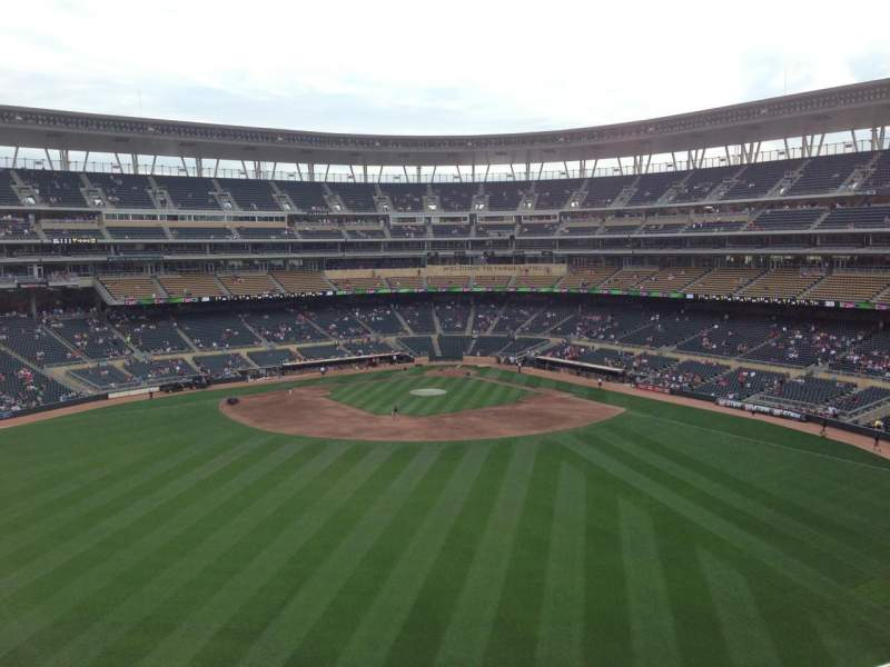 Seating view for Target Field Section 334 Row 4 Seat 10