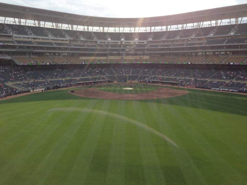 Seating view for Target Field Section 236 Row 4 Seat 11